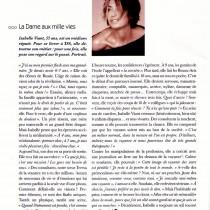 DS – « La dame aux mille vies » – Février 2007