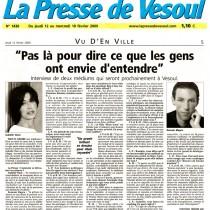 La Presse de Vesoul – Février 2009